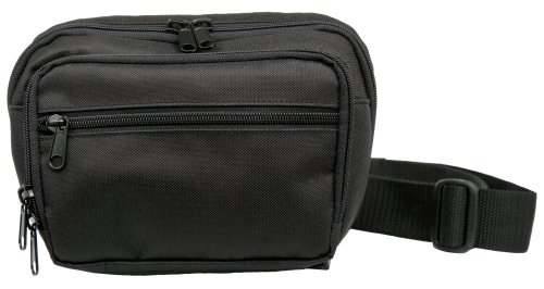Uncle Mike's Off-Duty and Concealment Nylon/Poly/PVC Fanny Pack Compact Bag, Black