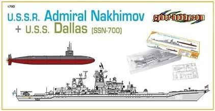 Cyber Hobby Models 1/700 U.S.S.R. Admiral Nakhimov + U.S.S. Dallas (SSN-700)
