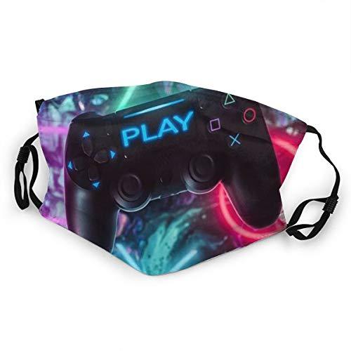 Kinder-Mundschutz, bunt, Videospiel-Controller, Spiele, Kinder, verstellbares Gesicht, Anti-Staub, für Jungen und Mädchen, 1 Stück