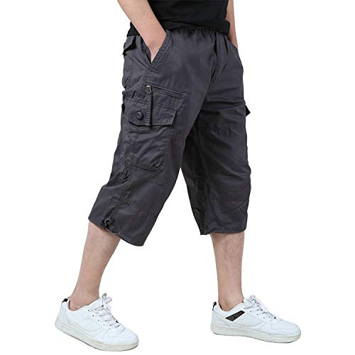 Yameekamulga Mens Outdoor Summer Lightweight Quick Dry Cargo Shorts No Belt Included