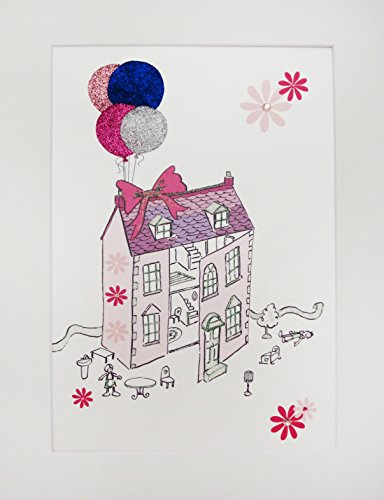 White Cotton Cards Maison de poupées pour bébé et Enfants, imprimé, Art Mural (Code PIC15)