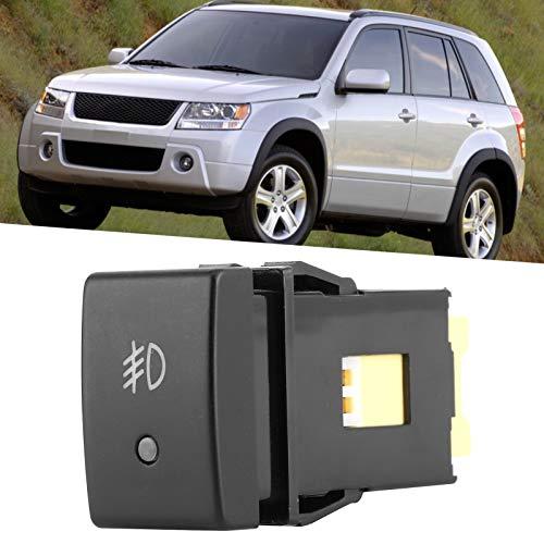Interruptor de luz antiniebla, interruptor de luz, no es fácil de dañar Accesorio de coche de 3 pines Modificación Rápida de instalar Botón de interruptor de luz de lámpara para Auto Home