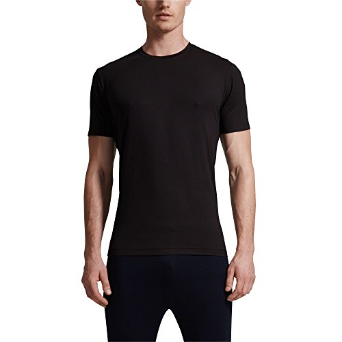 Mens Short Sleeve Crew Neck Cool Tee, Black, Small