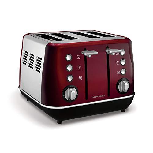 Morphy Richards Evoke 4 Slice Toaster 240108 Red Four Slice Toaster Red Toaster