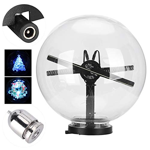 Annjom 3D Projector, Wireless Projector, Fan Digital Portable for Christmas Tree Clothing Store(British regulatory)