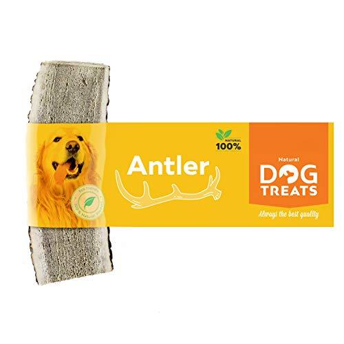 Geweih Kausnack für Hunde 100% Natürlich Hirschgeweih Kauspielzeug Kauknochen Hundeknochen, Größe Small