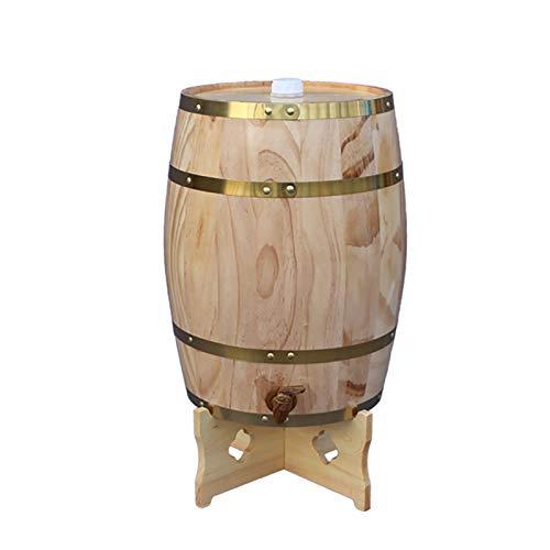 By Barril De Vino De Madera, Barril de Roble De Madera Maciza Dispensador De Cañones para Almacenar O Envejecer Vino Y Espíritus Barril De Vino Vertical (Tamaño: 5L10L20L)(Size:20L)