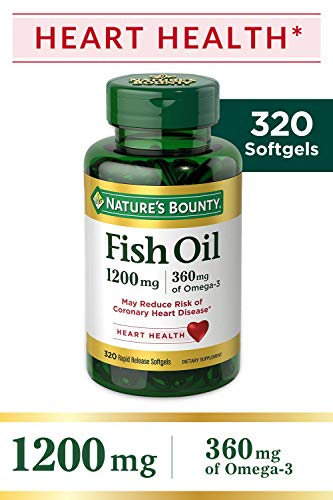 Omega 3 Natures Bounty Fish Oil Importado 1200 Mg 320 Cápsulas