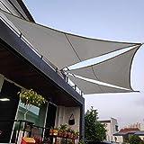 Voile D'ombrage Pare-Soleil Jardin Balcon Respirant Triangle, La Couleur,3.6 * 3.6 * 3.6M