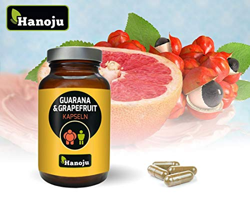 Hanoju Grapefruit + Guarana 450 mg 90 Kapseln, Sinetrol ® Spezialextract, Nahrungsergänzungsmittel