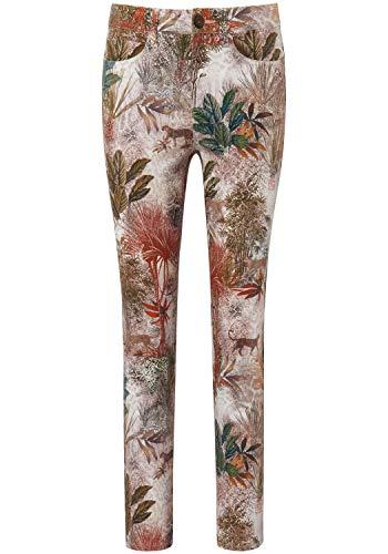 Peter Hahn - Pantaloni da donna con borchie Barbara beige/multicolore. W46