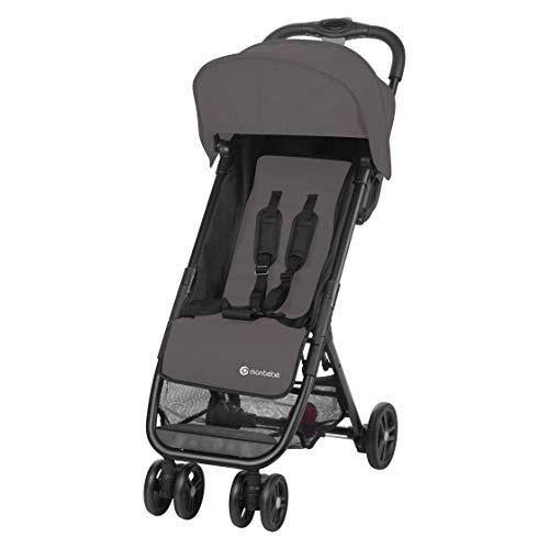 MON BEBE - Carrito de bebé ultra compacto (3,5 años, hasta 15 kg), color gris
