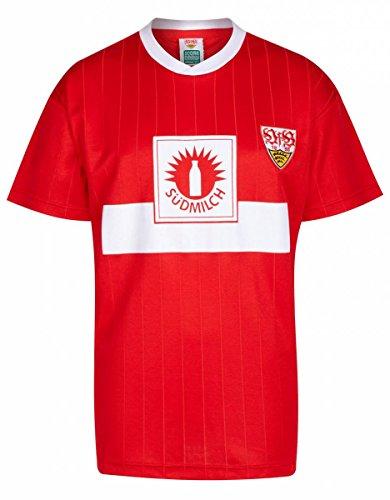 Score Draw VfB Stuttgart - Camiseta para hombre, diseño retro del VfB Stuttgart 1990 en rojo, talla XXXL