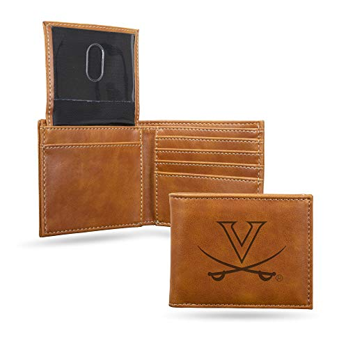 NCAA Rico Industries Laser Engraved Billfold Wallet, Virginia Cavaliers