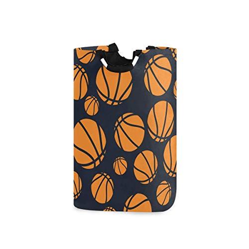 N\A Cesto de lavandería Cesto de Ropa para Lavar - Pelotas de Baloncesto Naranja Cesto de Ropa Plegable Cesto de lavandería de Gran Capacidad para baño, hogar