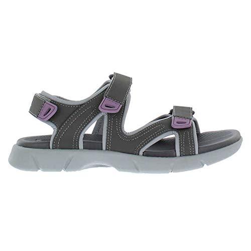 Khombu Ladies' Comfort Sandal (Gray, Numeric_9)
