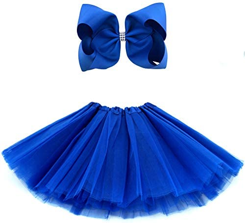 BGFKS 5 Layered Tulle Tutu Skirt for Girls with Hairbow and Hairties Ballet Dressing Up Kid product image