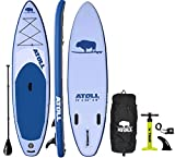 Atoll 11' Foot Inflatable Stand Up Paddle Board (6 Inches Thick, 32 inches Wide) ISUP, Bravo Hand...