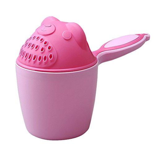Baby Löffel Dusche Bad Wasser Schwimmen Bailer Shampoo Tasse Safe Kinder, zum tränenfreien Haarewaschen, Shampooschutz, Wasserfall, Spülapparat, Spritzschutz, (Pink)