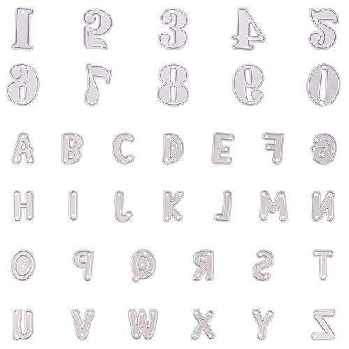 NBEADS 36 Piezas de Troqueles de Metal con Letras del Alfabeto A-Z para Manualidades, álbum de Fotos, Tarjetas de Papel en Relieve, decoración Manualidades, Regalos creativos