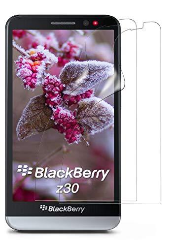 MoEx® Kristallklare HD Schutzfolie kompatibel mit BlackBerry Z30 | Displayschutzfolie Kratzfest + Fast unsichtbar, Ultra Klar 2X Stück