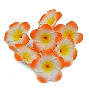 NINGX Plumeria Hawaiian PE Foam Frangipani Artificial Flower Headdress Flowers Egg Flowers Wedding Decoration Party Supplies