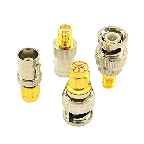 SMA to BNC Kits RF Coaxial Adapter Male Female Coax Connector 4 Pieces …