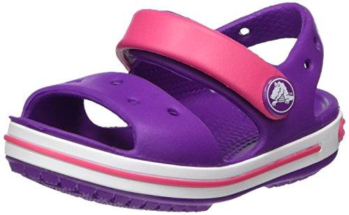 Crocs Crocband Sandal Kids, Unisex - Kinder Sandalen, Violett (Amethyst/paradise Pink), 22/23 EU