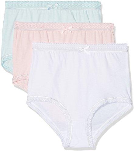 Marlon Damen Taillenslip Victoria, 3er Pack, Multicolour Asstd (White, Pink, Blue), 40-42 (Herstellergröße:12/14)