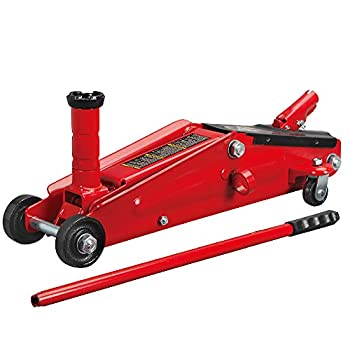 BIG RED T83006 Torin Hydraulic Trolley Service/Floor Jack with Extra Saddle  Fits  SUVs and Extended Height Trucks   3 Ton  6,000 lb  Capacity Red