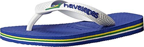 Havaianas Kid's Brazil Logo Flip Flop Sandal, Marine Blue, 2 M US Little Kid