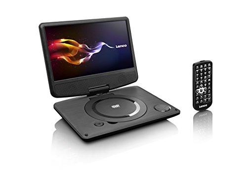 Lenco DVP-933 tragbarer DVD-Spieler (22,5 cm (8,85 Zoll) TFT-Display, USB, Stereo Lautsprecher) inkl. Tasche, Fernbedienung