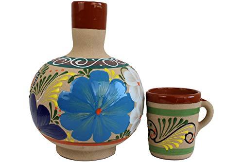 Traditional Jug Clay Pot For Water Great Quality and Design Botellon Cántaro Mexicano  Tarro Artesanal Hecho de Barro 1 Gallon