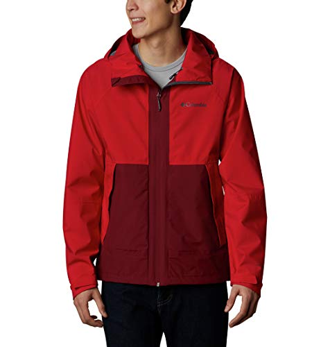 Columbia Evolution Valley Chaqueta, Hombre, Rojo (Mountain Red, Red...
