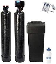 AFWFilters 56SXT-10% Combo Package Abundant Flow Built Fleck 5600SXT 48,000 Grain Water Softener with Upflow Filter (10% Resin with Carbon), Black