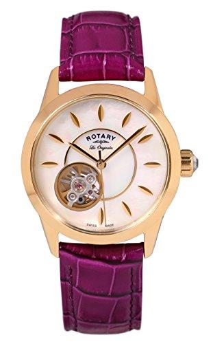 Rotary Damen Automatik Uhr Mit Leder Armband LS90513/41/L1G