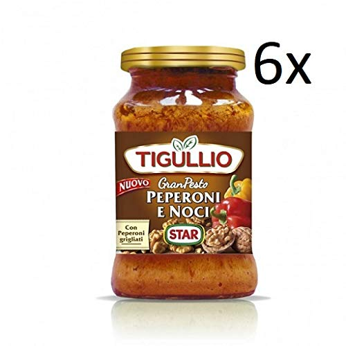 6x Star Tigullio GranPesto Pesto Peperoni e noci Paprika und Walnüsse 190 g Sauce