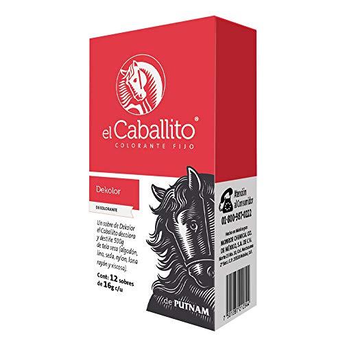 el Caballito Cajilla 12 sobres Decolorante para Ropa Dekolor 16g c/u