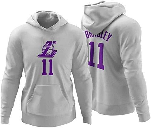 ZSPSHOP Sudadera con capucha de la NBA, Los Angeles Lakers Anthony Davis Digital Jersey No.3 No.9 No.11 de baloncesto con capucha cómoda (color: blanco11, tamaño: mediano)