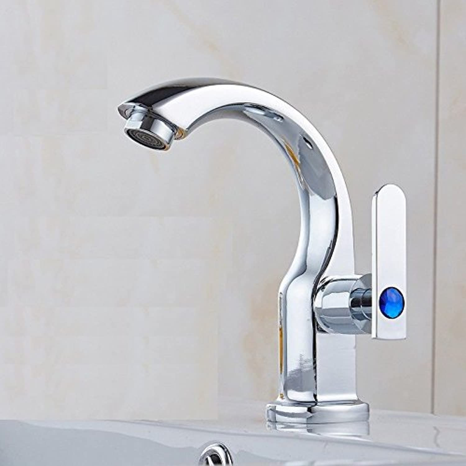 ETERNAL QUALITY Bathroom Sink Basin Tap Brass Mixer Tap Washroom Mixer Faucet The water valve single cold basin Faucet Kitchen Sink Taps