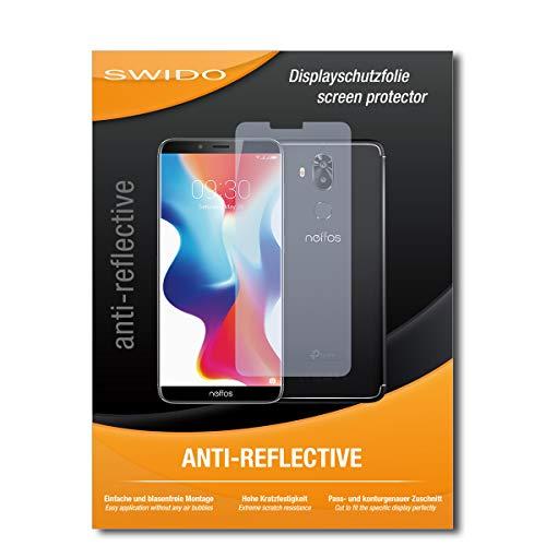 SWIDO Bildschirmschutz für TP-Link Neffos X9 [4 Stück] Anti-Reflex MATT Entspiegelnd, Hoher Festigkeitgrad, Schutz vor Kratzer/Glasfolie, Schutzfolie, Bildschirmschutzfolie, Panzerglas Folie