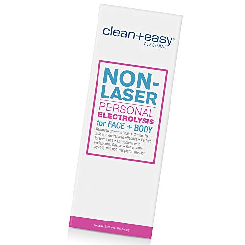 Clean + Easy Non-Laser Personal Electrolysis for Face and Body, Permanent Hair Removal - Battery Operated
