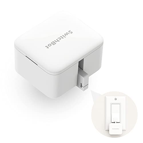 SwitchBot Smart Switch Button Pusher - No Wiring Wireless App or Timer Control Add SwitchBot Hub Compatible with Alexa Google Home HomePod IFTTT