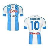 MAESTRI DEL CALCIO Maglia Gara Bianco Azzurra Maradona 10' El PIBE DE Oro S.S.C. Napoli 2020/2021 Argentina CELEBRATIVA Limited Edition