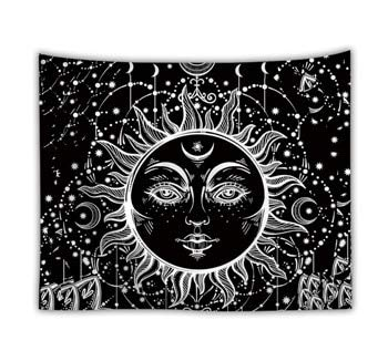 KHKJ Wall Hanging Tarot Tapestry The Moon The Star Tapestries Blanket Bedspread Beach Towels Picnic Mat A3 150x130cm