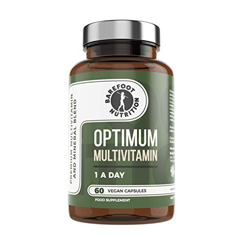 Barefoot Nutrition - Optimum Multivitamin & Mineral Supplement: 60 x Bioactive High Strength 1-a-Day Capsules, with Vitamin C - Superior Absorption for Immune Support - No Additives - UK Made