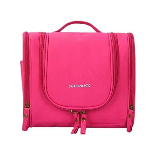 Travel Waterproof Cosmetic Bag Travel Organizer Folding Toiletries Bag Large Capacity Multifunction Hanging Hook Travel Bags Rosered