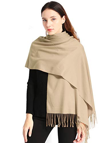 Pashmina Shawls and Wraps Elegant Cashmere Scarfs for Women Stylish Warm Blanket Solid Winter...