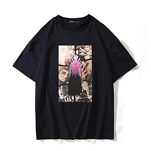 SHIQI-DYMX Naruto Camiseta De Anime con Estampado Gráfico, Camisetas De Verano, Ropa De Calle,XXS