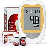 Glucómetro electrónica Digital de Mano Blood Glucose Monitor Diabetes Metro de Prueba del Monitor Kit con 50 Tiras de Prueba Gratuito